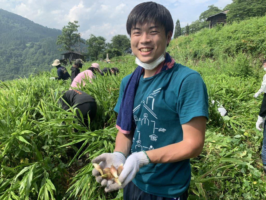 飛騨市ふるさと種蔵村『myみょうが畑プロジェクト2021』みょうが収穫体験をしよう!