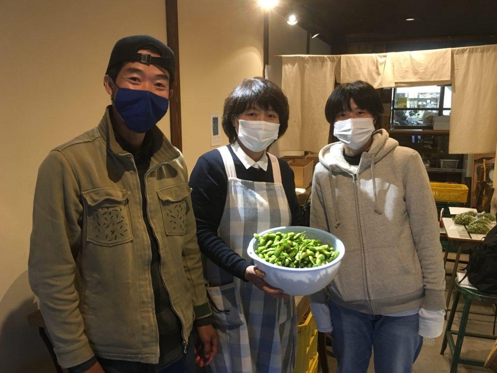 ソヤ畦畑で枝豆の選別出荷のお手伝いPart3!