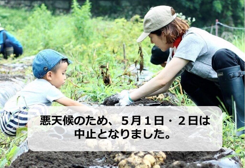 【5月1日・2日】ソヤ畦畑『じゃがいもの植え付け』のお手伝いは中止となりました。
