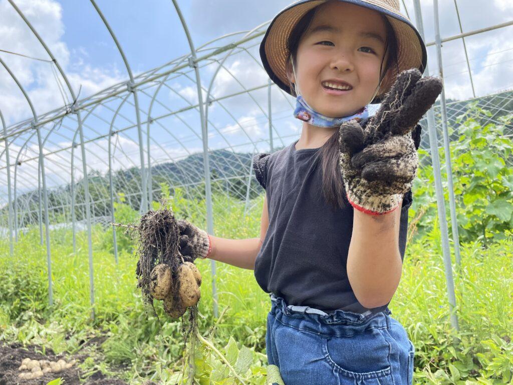 ありがとうファーム大自然の中でみんなでワイワイじゃがいも収穫のお手伝い!